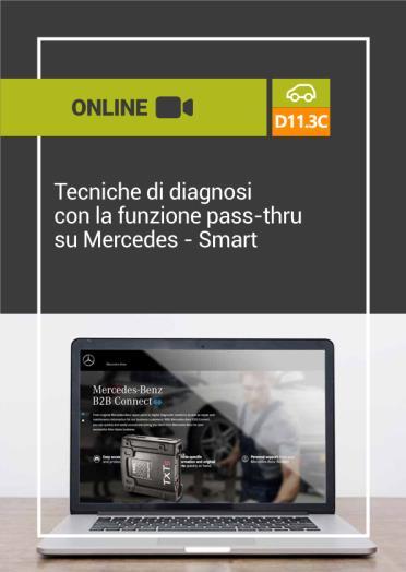 D11.3C TECNICHE DI DIAGNOSI CON LA FUNZIONE PASS-THRU SU MERCEDES - SMART